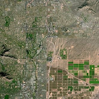 Scottsdale, Arizona - The Shea corridor seen from Spot Satellite