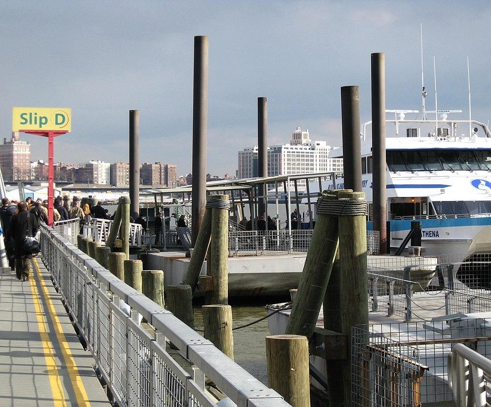 Pier 11 at Wall Street ferry