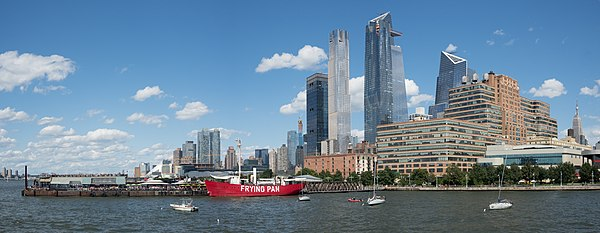 Pier 66 and Hudson Yards in New York City