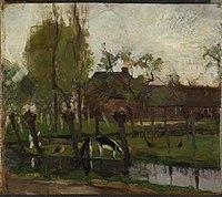 Piet Mondriaan - Farmstead with willows on the water II - 0333472 - Kunstmuseum Den Haag.jpg