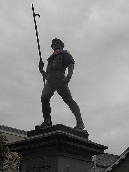 ウェックスフォードタウンの「パイクマン」像