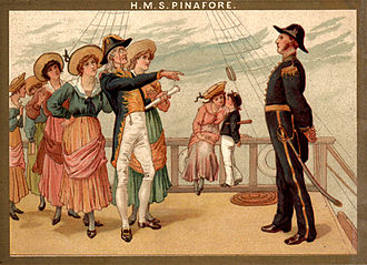 H.M.S. Pinafore - Scene from 1886 Savoy Theatre souvenir programme