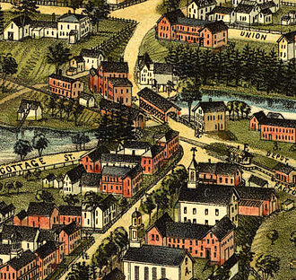 Goffstown, New Hampshire - Main Street in 1887