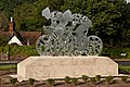 Pixham End Roundabout cycling statue.jpg