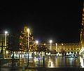 Place Jean Jaurès, nuit fin décembre 2011.JPG
