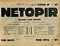 Plakat za predstavo Netopir v Narodnem gledališču v Mariboru 21. aprila 1930.jpg