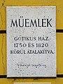 Plaque - Budapest, Úri u. 47, 1014 Hungary.jpg
