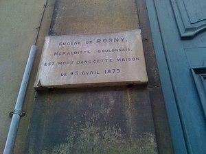 Plaque présente sur la façade