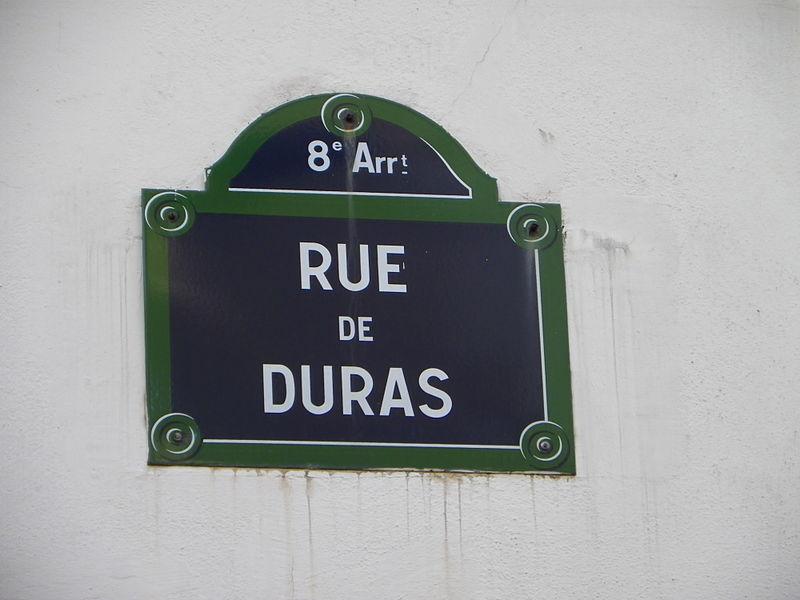 Fichier:Plaque rue de Duras à Paris.JPG