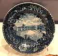 Plate with view of the Erie Canal, 1820s-1840s, made by Enoch Wood and Sons, Staffordshire, England - National Museum of American History - DSC06187.JPG