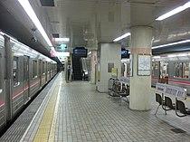 Platform of Minami-Tatsumi Station.JPG