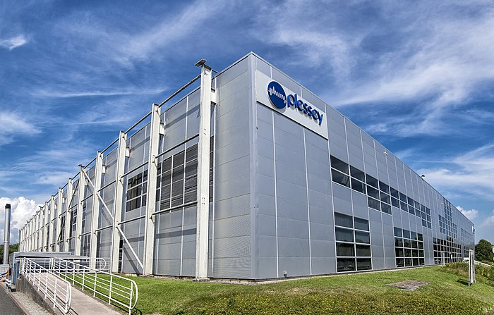 Plessey Semiconductors Ltd HQ in Roborough, Plymouth in August 2017 Plessey HQ Aug 2017.jpg