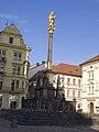 Plzeň, náměstí Republiky, morový sloup.jpg