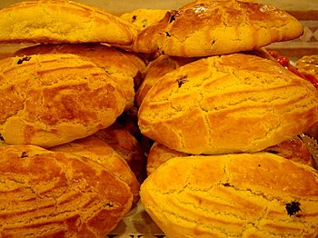 Pogača (or Poğaça), a type of bread eaten in B...