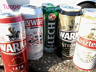Beer in Poland - Various Polish beers in can