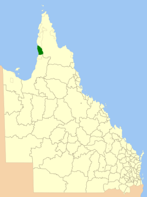 Aboriginal Shire of Pormpuraaw - Location within Queensland