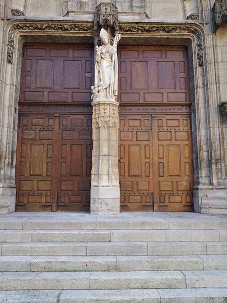 Portail de la basilique Saint-Nicolas, à Saint-Nicolas-de-Port.