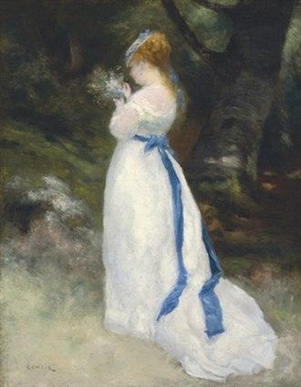 Lise (Renoir) - Portrait de Lise (Lise tenant un bouquet de fleurs des champs) (1867), the sister painting to Lise