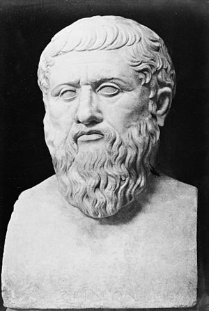 Antitheatricality - Portrait of Plato; bust. Wellcome M0005618
