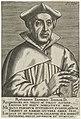 Portret van Ruard Tapper Rvardvs Tappervs Theolog.D. (titel op object) Portretten van beroemde Europese geleerden (serietitel) Virorum doctorum de Disciplinis benemerentium effigies (serietitel), RP-P-1906-2448.jpg