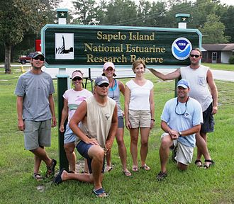Sapelo Island National Estuarine Research Reserve - Dolphin researchers at the reserve