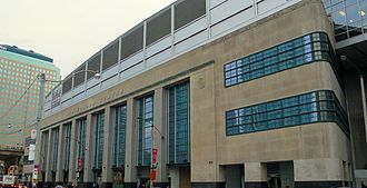 Scotiabank Arena - The arena retains the eastern wall of the original postal structure built in 1941, through a process of facadism.