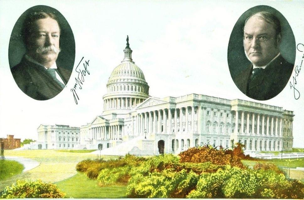 PostcardTaftShermanGOPTicketPrezElection1908