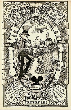 Bob Gardiner (animator) - Image: Poster Rev Chumleigh Feb 1979