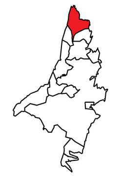 Emplacement de Pouch Cove dans la région métropolitaine de St. John's.
