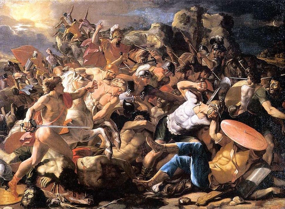 Poussin - Josué et les Amorites Moscou