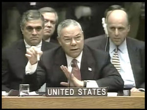 Senate Report on Pre-war Intelligence on Iraq - Image: Powell anthrax jbc
