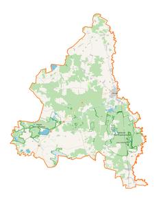 Mapa lokalizacyjna powiatu włodawskiego