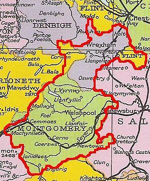 Kingdom of Powys - Approximate extent of Powys before division in 1160