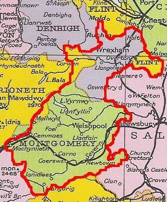 Madog ap Maredudd - Approximate extent of Powys in 1160