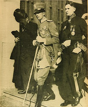 Umberto II of Italy - Prince Umberto during his visit to Chile, in 1924