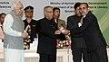 Pranab Mukherjee presenting the National Award for Teacher-2011 to Shri Keshavbhai Premabhai Rohit, Dadra & Nagar Haveli, on the occasion of the 'Teachers Day'.jpg