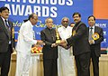 Pranab Mukherjee presenting the Navratna Award at the SCOPE Meritorious presenting ceremony, in New Delhi. The Union Minister for Heavy Industries and Public Enterprises.jpg