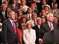 President George W. Bush in Reno, Nevada (With John McCain) (112789516).jpg