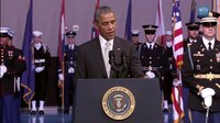 File:President Obama Delivers a Farewell Tribute to Secretary of Defense Chuck Hagel.webm