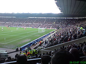 Pride Park Stadium - The South Stand (right).