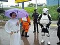 Princess Leia celebrates Green Line opening at West Bank.jpg