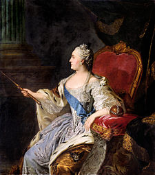 Profile portrait of Catherine II by Fedor Rokotov (1763, Tretyakov gallery).jpg