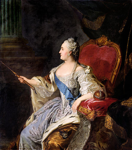 Empress of Russia Catherine the Great Profile portrait of Catherine II by Fedor Rokotov (1763, Tretyakov gallery).jpg