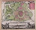 Prospect und Grund-riss der Kayserl. Residenz-Stadt Wien mit negst anligender Gegend und neuen Linien umb die Vorstädt - CBT 5877994.jpg