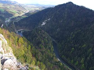 Dunajec - Dunajec in the Pieniny mountains