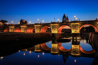 Bridge of Toledo (Madrid) - The bridge of Toledo at night (2013)