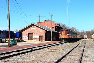 Grenada County, Mississippi - Image: Pulling into Grenada Station panoramio