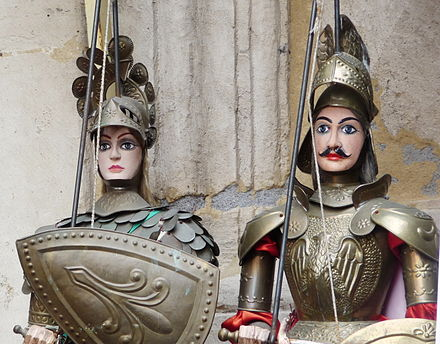 The marionettes used in the Opera dei Pupi Pupi, Catania.JPG