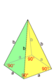 Pyramid of a square base and isosceles triangles.png