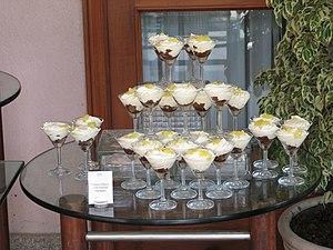 Pyramid of desserts